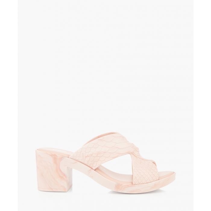 Image for Baja beige scale mules
