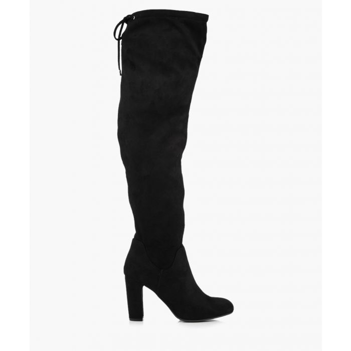 Image for Pace black over-the-knee boots