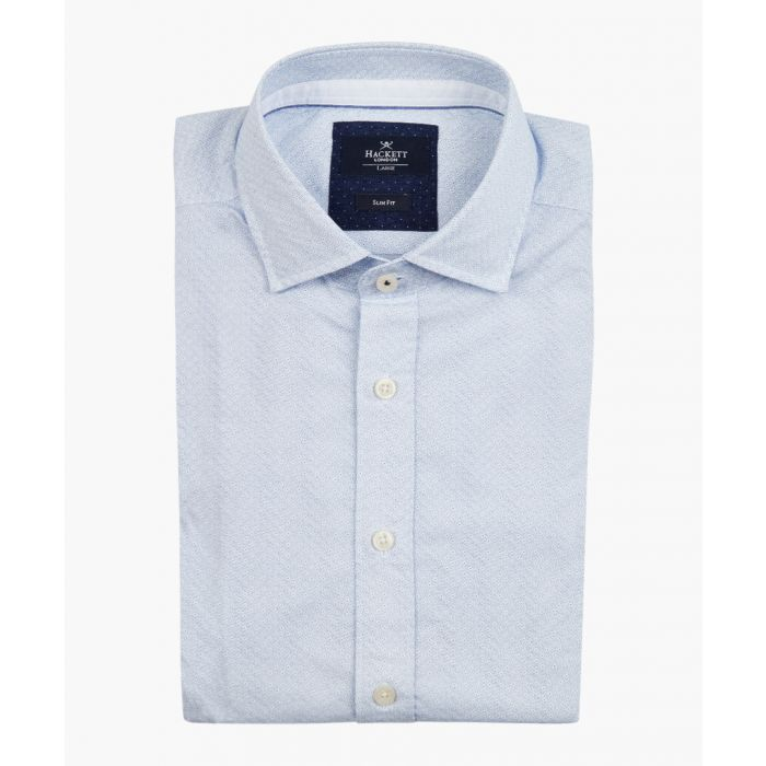 Image for Sky blue & white button-up shirt