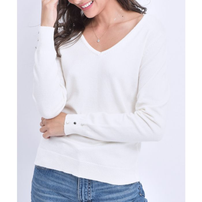 Image for Natural cashmere and silk blend jumper