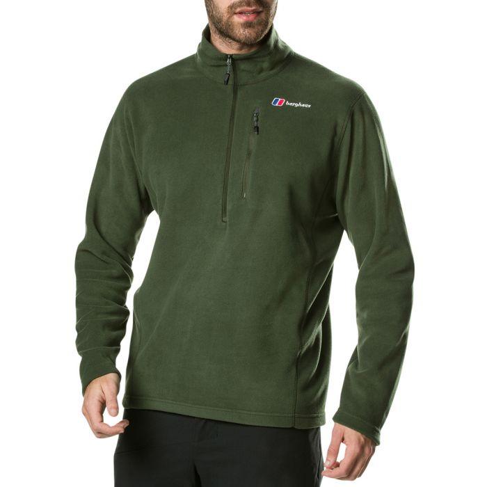 Image for Dark green zip-up coat
