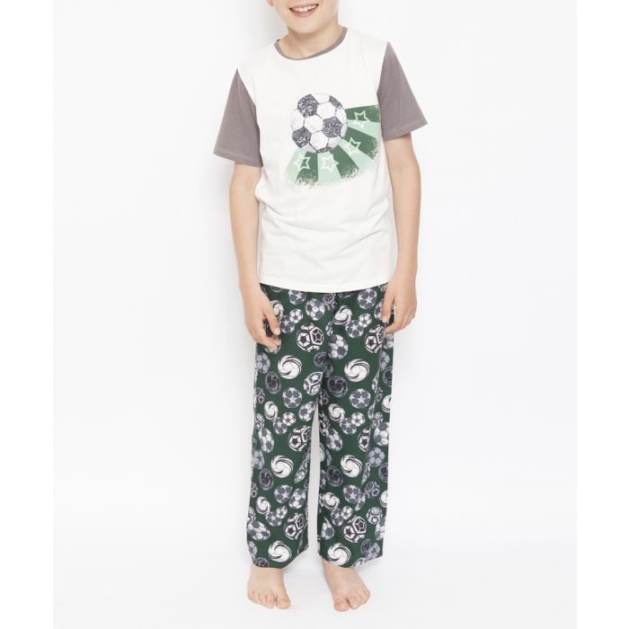 Image for 2pc Alfie green football pyjama set