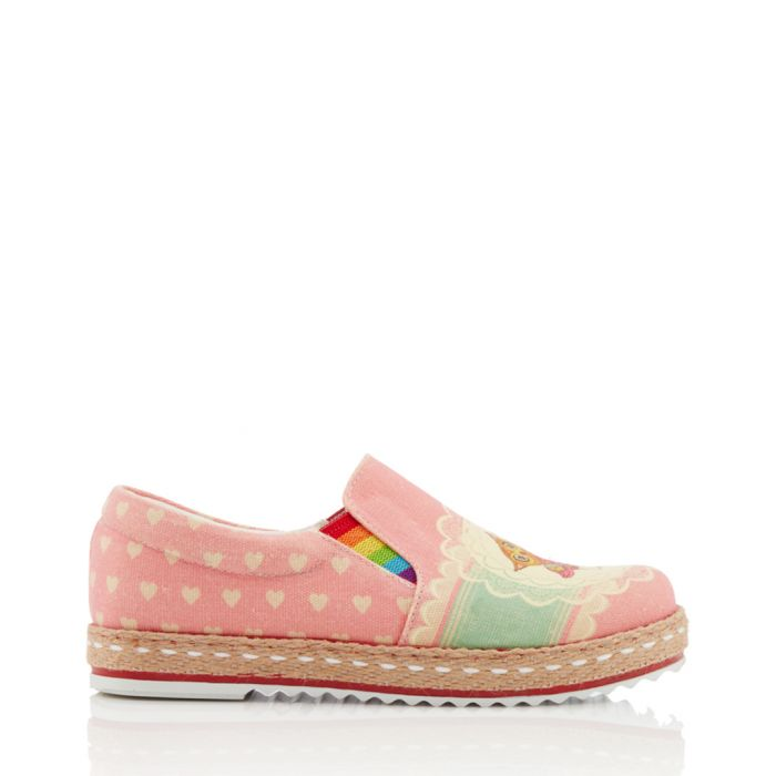 Image for Multi-coloured print slip-ons