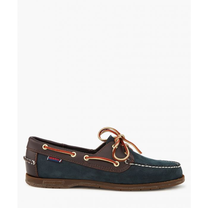Image for Victory navy and white boat shoes