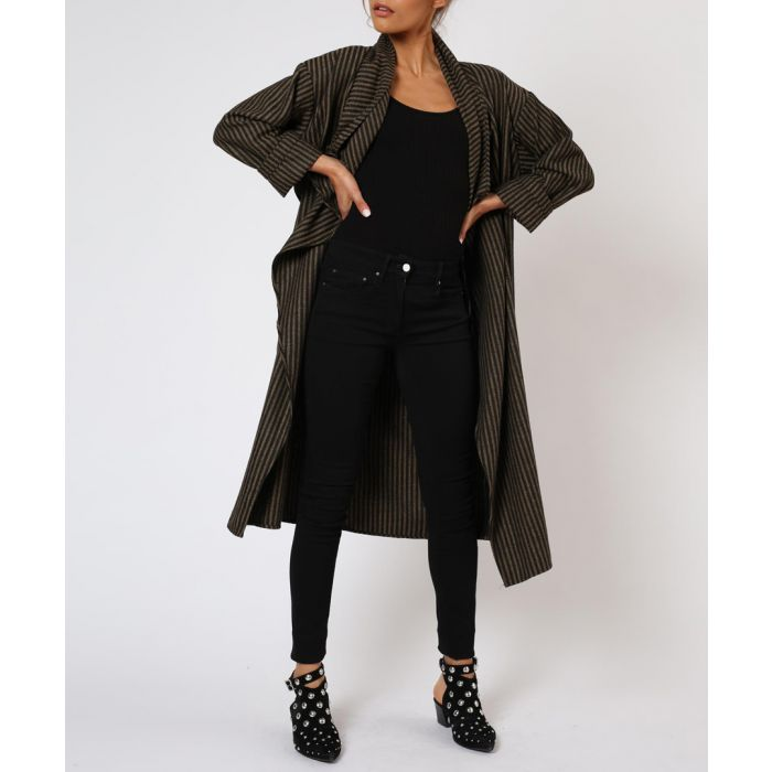 Image for Eternity jet black & camel coat