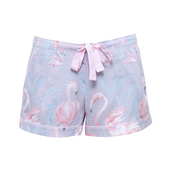 Image for Zara grey flamingo pyjama shorts