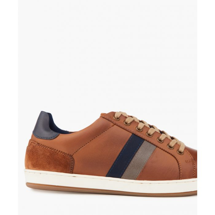 Image for Theo tan striped sneakers