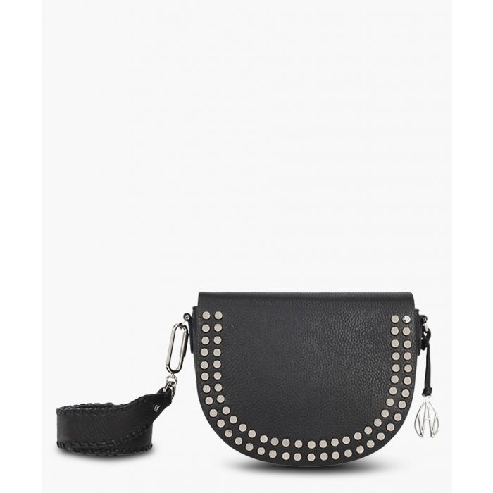 Image for Cooper black leather studded crossbody