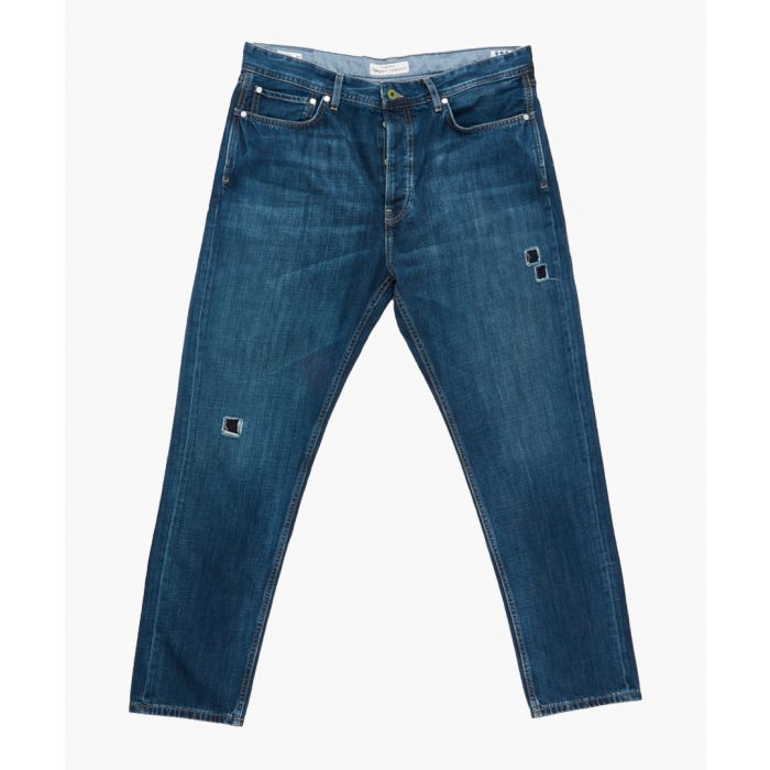 Image for Blue distressed denim jeans