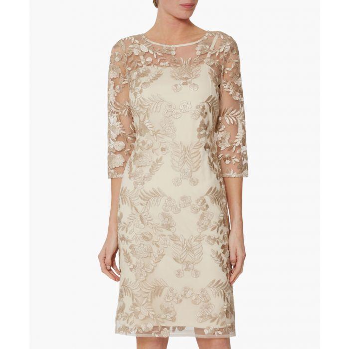 Image for Rekha golden lace mini dress