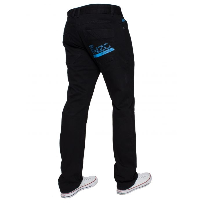 Image for Black regular fit blue print jeans