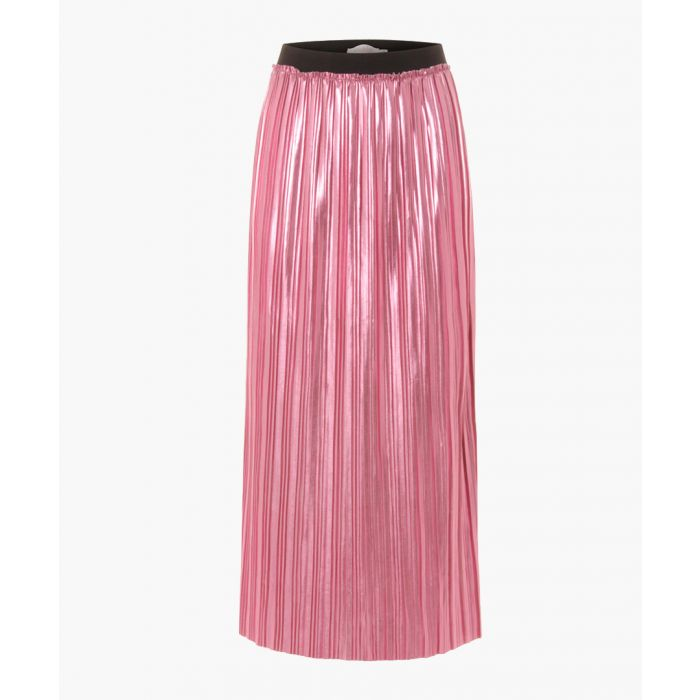 Image for Hot pink pleated midi skirt