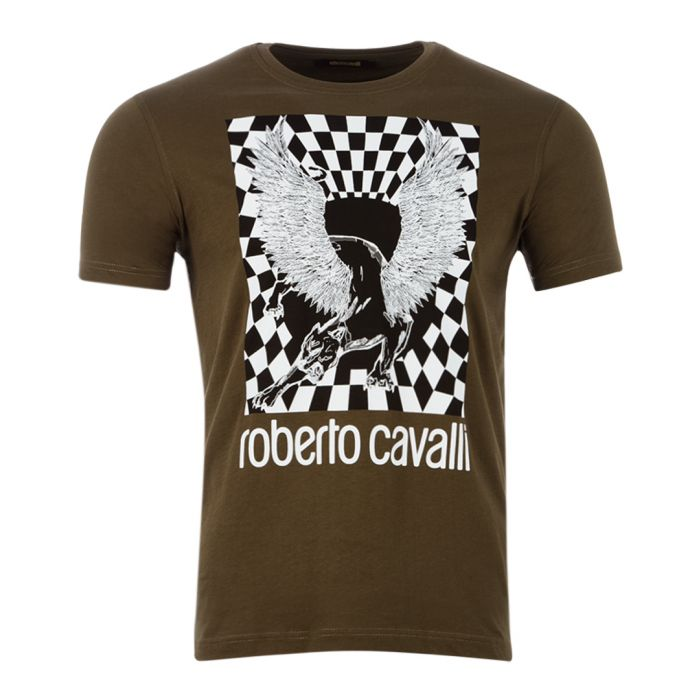 Image for khaki pure cotton chimera T-shirt