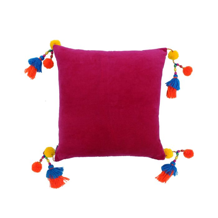 Image for Poco fuchsia pure cotton cushion
