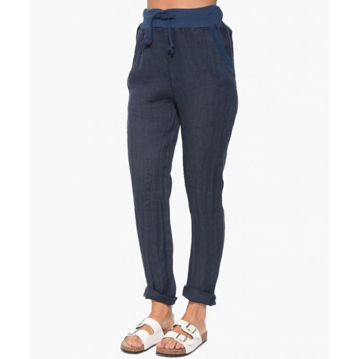 Image for marine pure linen trousers