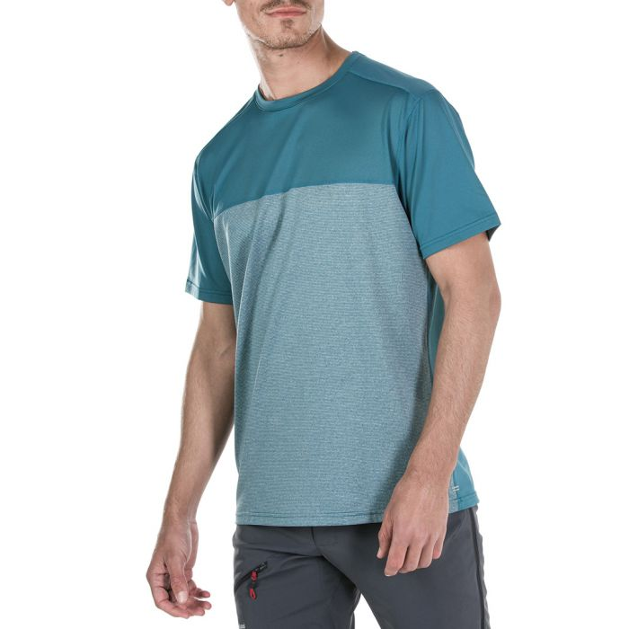 Image for Blue colour block T-shirt