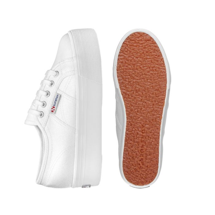 Image for White platform slip-on trainers