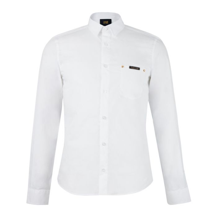 Image for White pure cotton long sleeve shirt