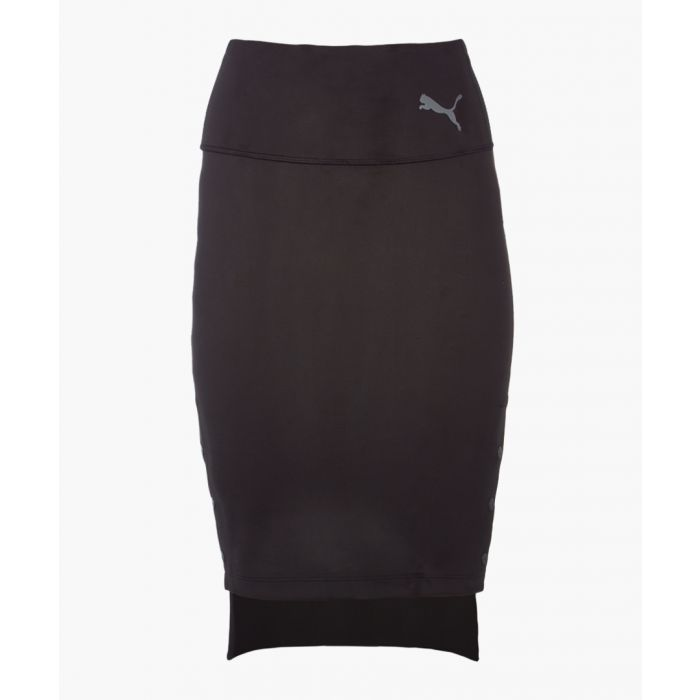 Image for X sg black cotton stretch skirt