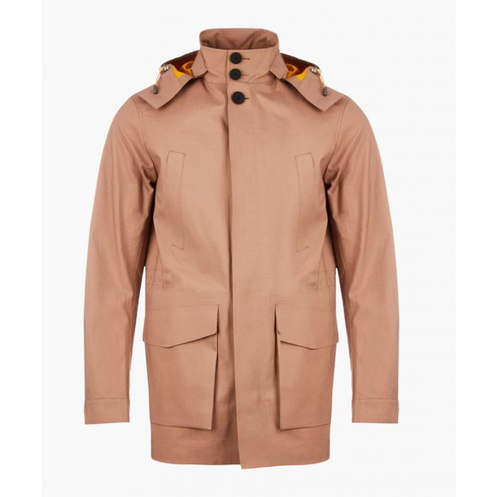 Image for Chaser camel cotton hooded Mackintosh