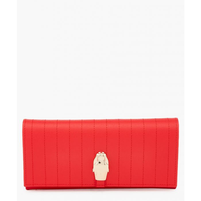 Image for Dauphine red leather wallet