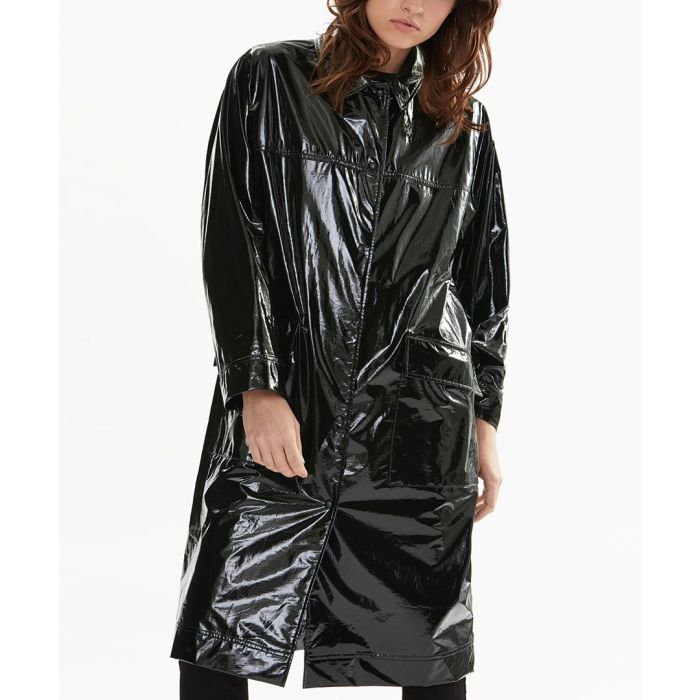Image for Black pure cotton rain coat