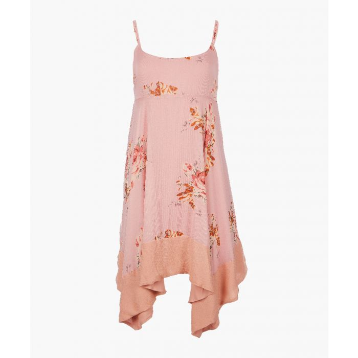 Image for Faded bloom pink printed mini dress