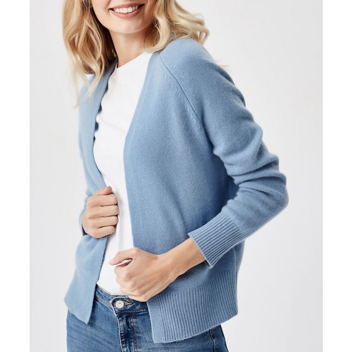 Image for Royal blue pure cashmere cardigan