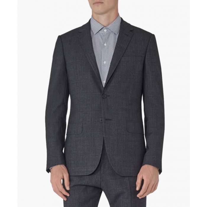 Image for Archer blue wool blend blazer