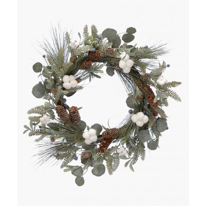 Image for Mistletoe & cone wreath 60cm