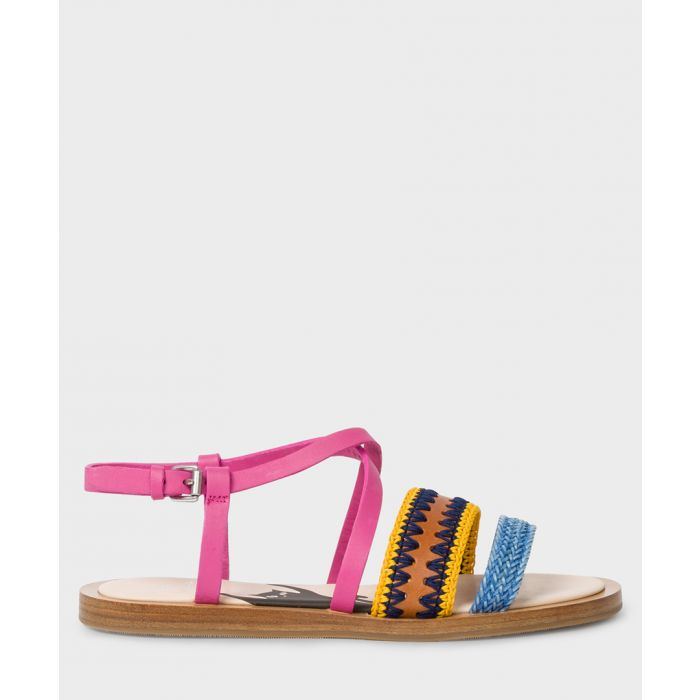 Image for Multi-coloured leather printed sandals