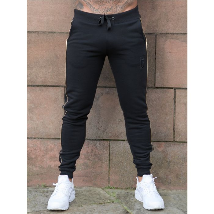 Image for Black slim fit fashion joggers