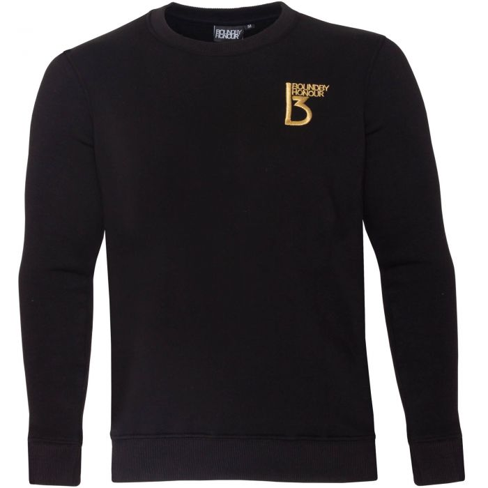 Image for Black crew neck casual sweatshirt