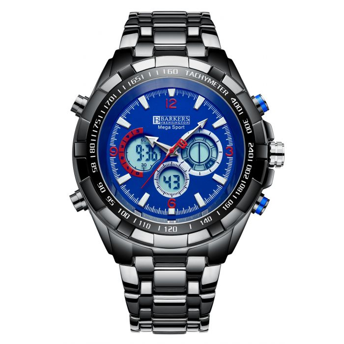 Image for Barkers of Kensington Mega Sport Blue Mens Watch