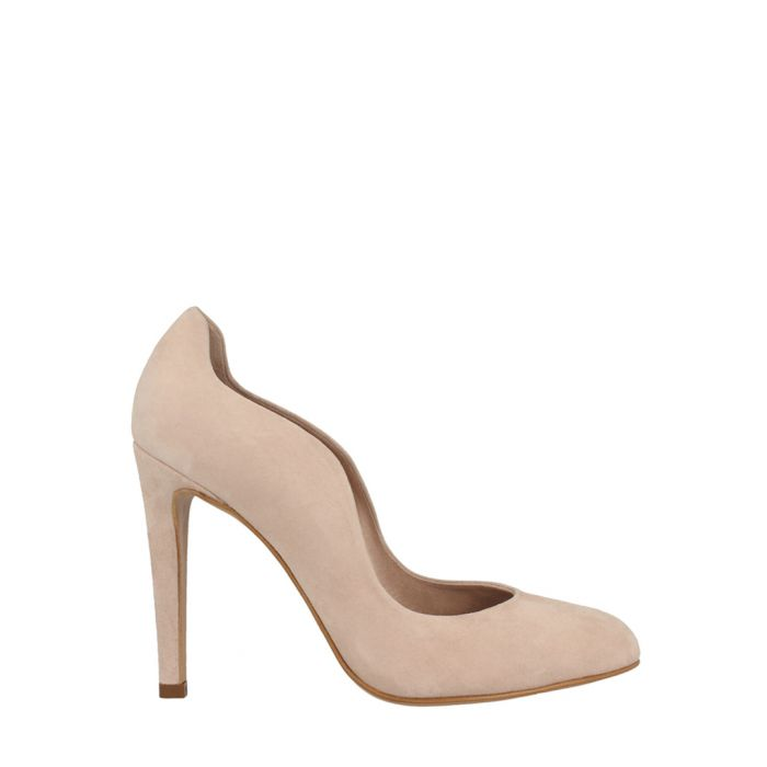 Image for Nude suede curve stiletto heels