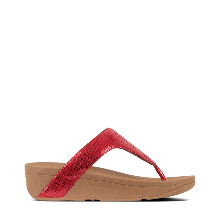Image for Lottie adrenaline red textured sandals
