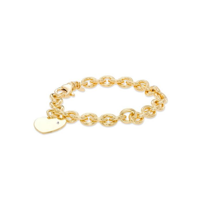 Image for 18k gold-plated steel bracelet