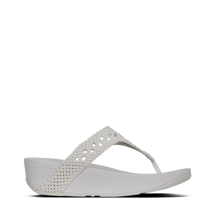 Image for Lottie Wicker urban white faux-leather sandals