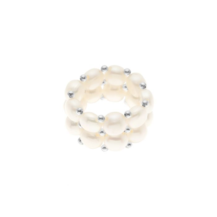 Image for 0.3cm white freshwater pearl ring