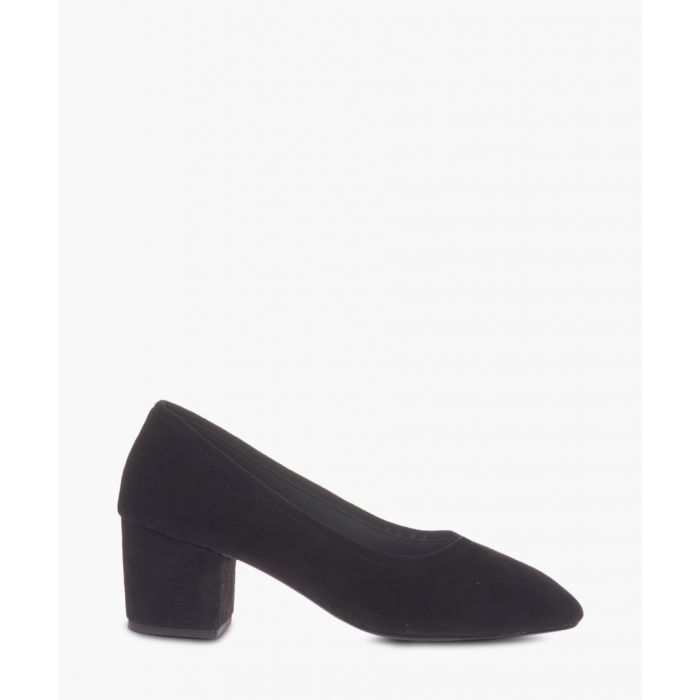 Image for Lo black suede court heels