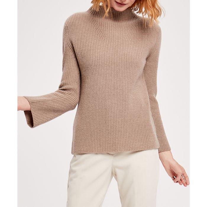 Image for Brown pure cashmere turtleneck jumper