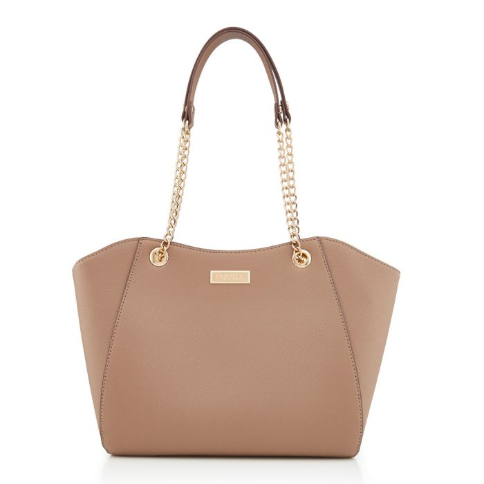 Image for Bex taupe chain strap shopper