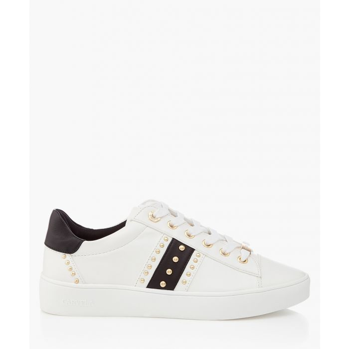 Image for White & black studded sneakers