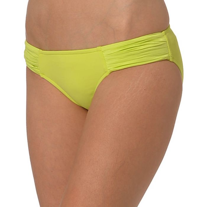 Image for Chartreuse pleated bikini briefs