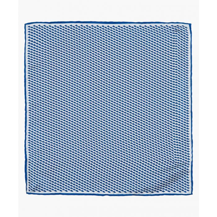 Image for Blue geo pure silk pocket square