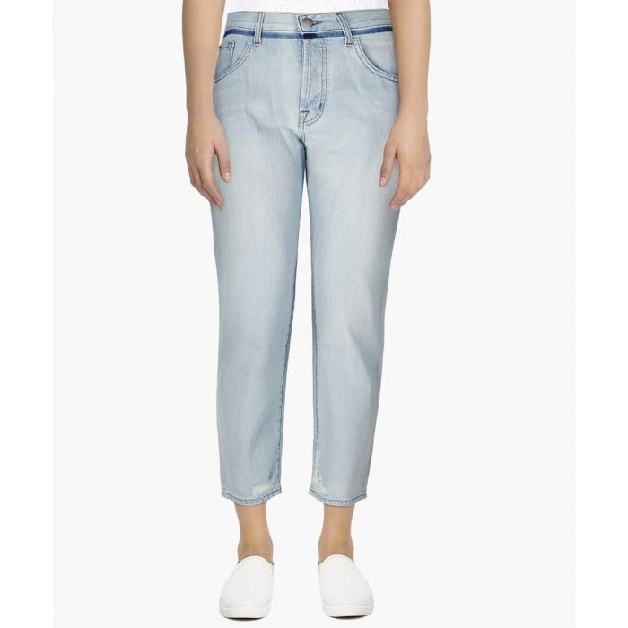 Image for Wynne blue high-rise crop straight jeans