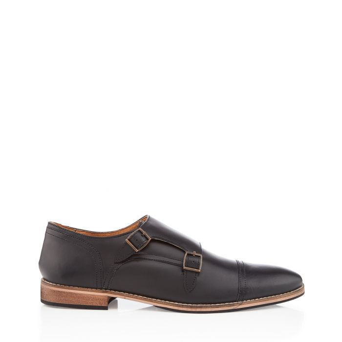 Image for Karl black buckle slip-ons