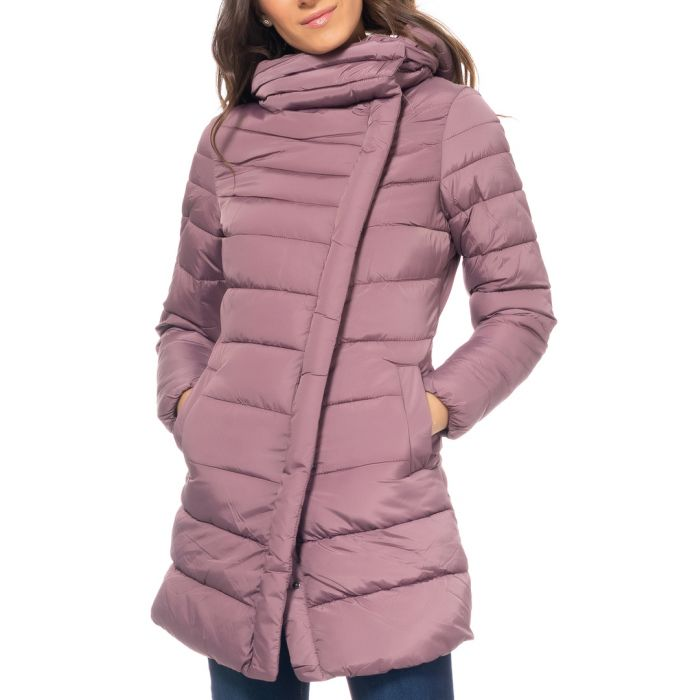 Image for Purple wrap puffer jacket