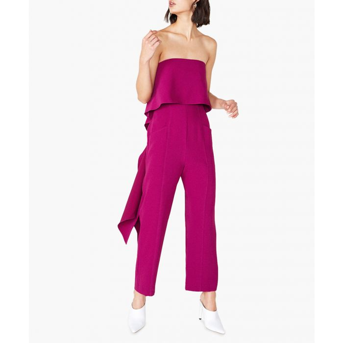 Image for Woburn orchid pink strapless jumpsuit