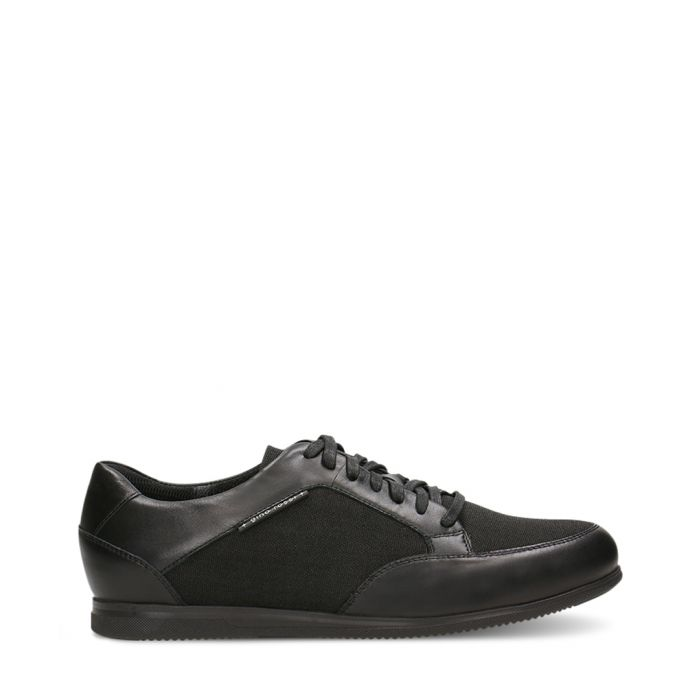 Image for Black leather contrast sneakers